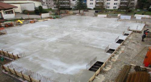 Bodenplatte gegossen
